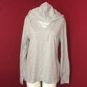 Danskin Now size L 12-14 hooded long sleeve shirt